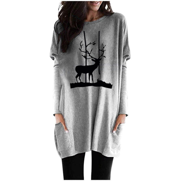 Watchful reindeer print blouse - Fashion Bug Online
