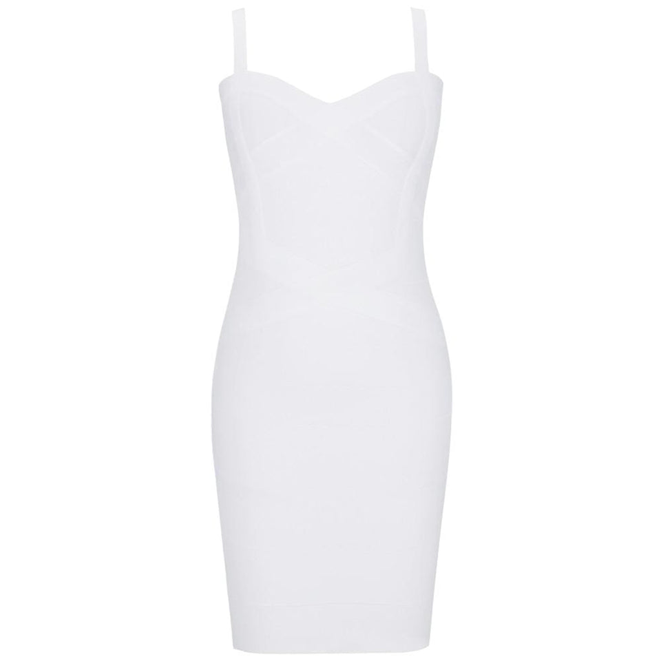 White Spaghetti Bandage Dress - Fashion Bug Online