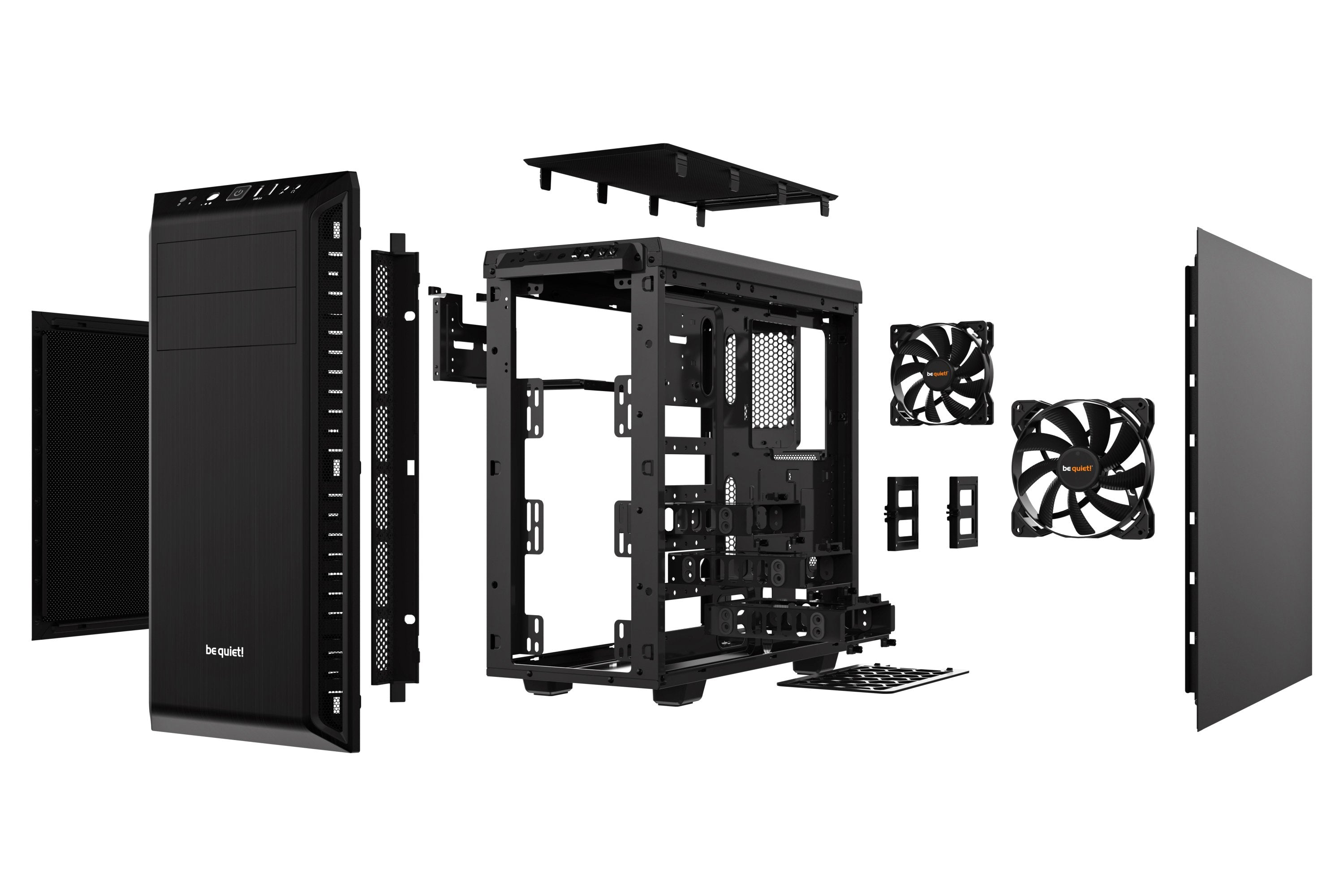 Gabinete Be Quiet! Pure Base 600, Midi-Tower, ATX/EATX/Micro ATX/Mini-ITX, USB 3.0, sin Fuente, Negro