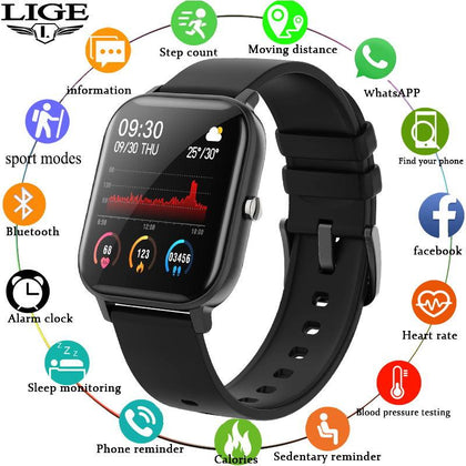 IPX7 Waterproof LED Full Touch Screen Smart Watch