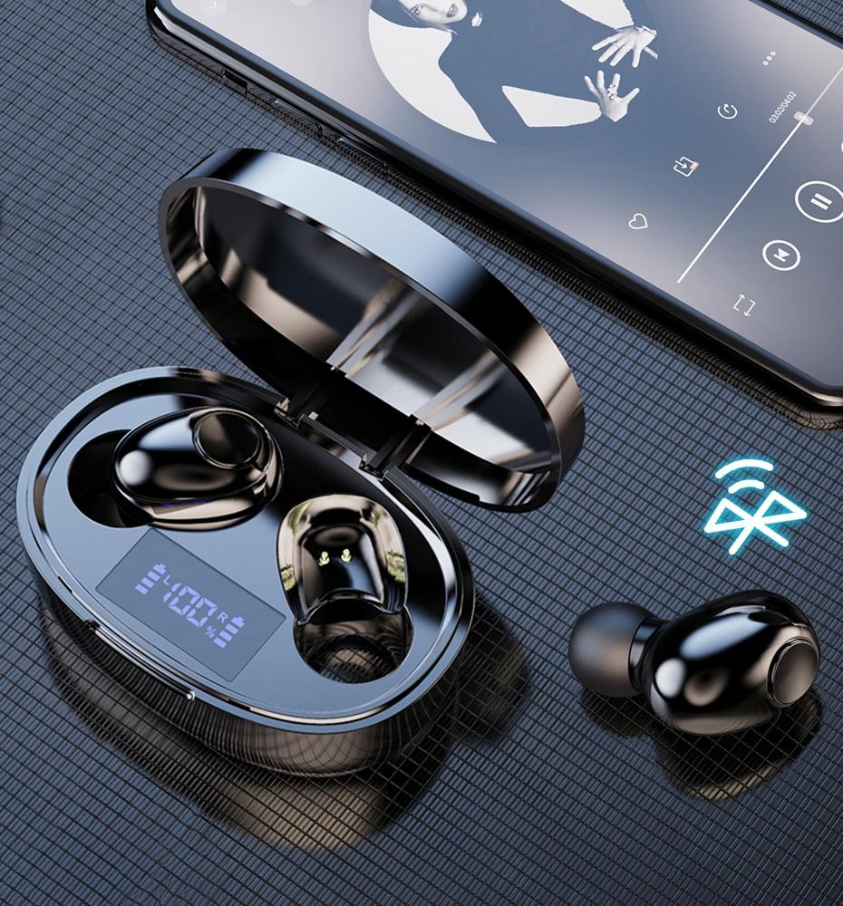 Wireless Earphone Noise Canceling Waterproof Bluetooth 5.1 Wireless
