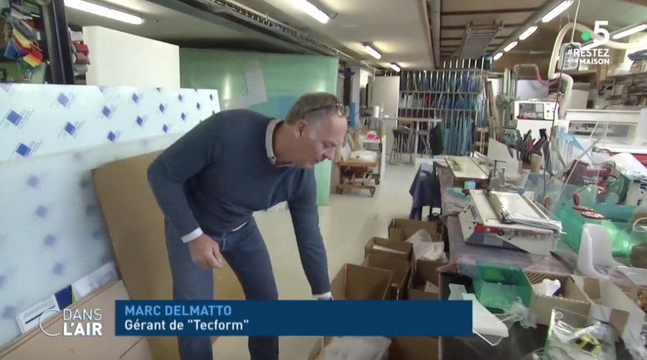 France 5 - C dans l'air - Tecform France - Covid 19