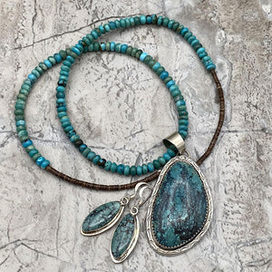 Navajo Blue Diamond Turquoise Set from History Colorado Shop