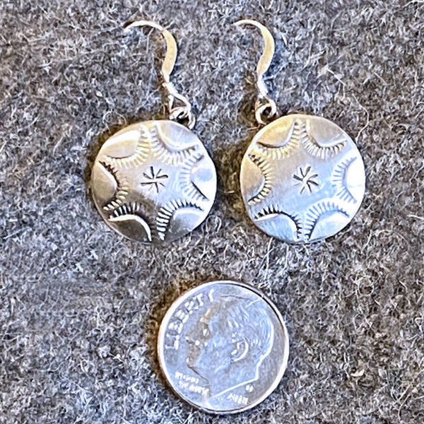 Genuine American Indian Navajo Sterling Silver Drop Earrings from the History Colorado Shop