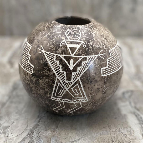 Acoma Horsehair Vase, by Gary Yellow Corn Louis