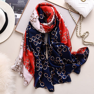 Retro Circle Dot Silk Scarf Designer Print Women Warm Shawls and Wraps Hijab Bandana Pashmina Scarves 2020 Fashion