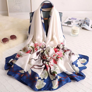 2020 Winter Scarf Lady Silk Shawl Warm Bufanda Fashion Female Bandana Soft Stoles Head Wrap Women Foulard Print Scarves New