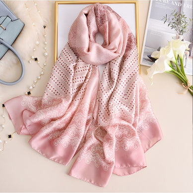 2020 Winter Scarf Silk Lady Head Wrap Fashion Bandana Women Scarves Pashmina Hijab Female Bufanda Stoles Print Wram Foulard