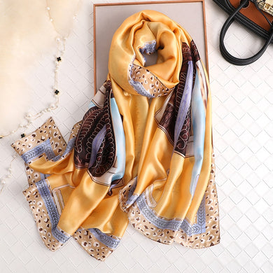 Silk Scarf Shawls for Lady Winter Spring Wraps Designer Print Women Foulard Pashmina Beach Scarves Bandana 2020 Fashion