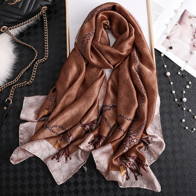 2020 fashion print women scarf long size summer lady pashmina shawls and wraps foulard bandana hijabs beach stoles silk scarves