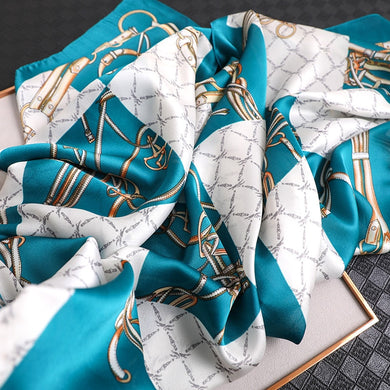 2020 Designer Women Silk Scarf Pashmina Shawls Lady Wraps Luxury Print Foulard Hijab Spring Fashion Beach Scarves Stole