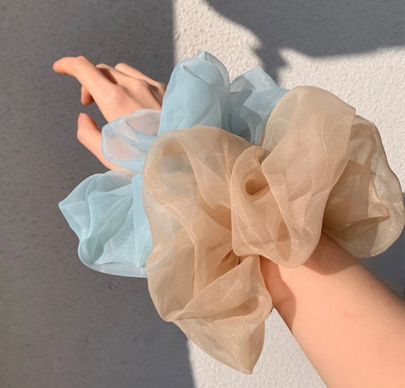 Oversized Organza Hair Scrunchie