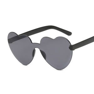 Coloured Love Heart Sunglasses