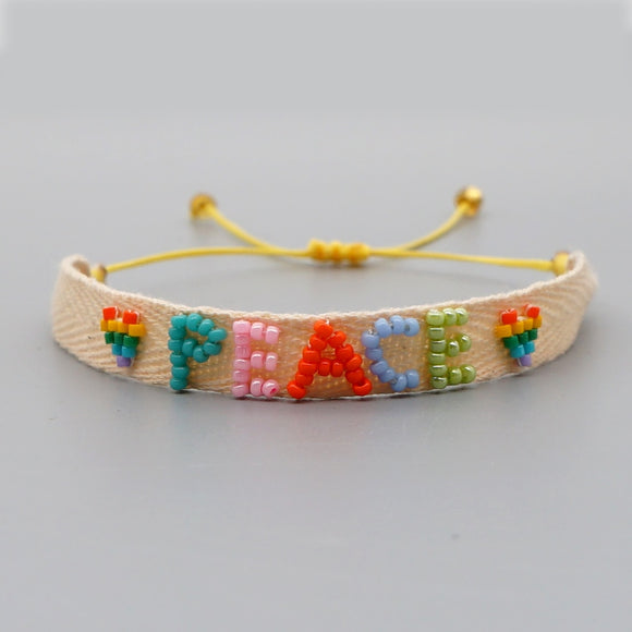 Handmade Peace Friendship Band Bracelet