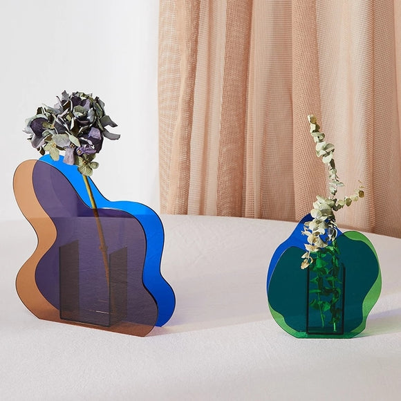 Wavy Abstract Acrylic Vases