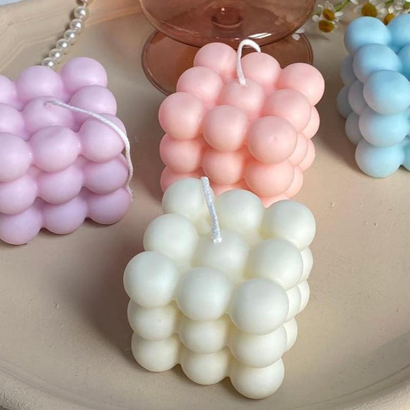 Cube Bubble Candles