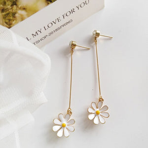 Daisy Drop Earrings & Daisy Studs