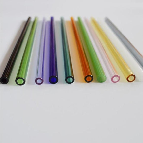 Coloured Glass Reusable Straw
