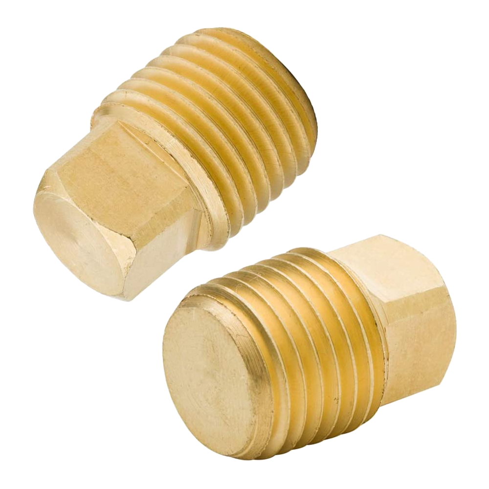 Brass Pipe Fitting - NPT Male Square Head Plug