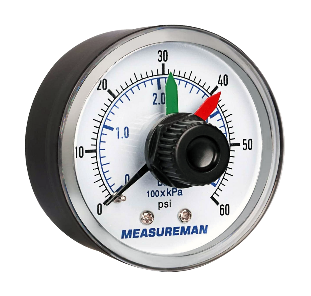 Measureman Pressure Gauge with Dial Replacement 2 x 1/4