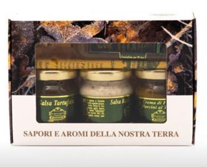 3 SALSE E 1 OLIO AL TARTUFO TARTUBOX