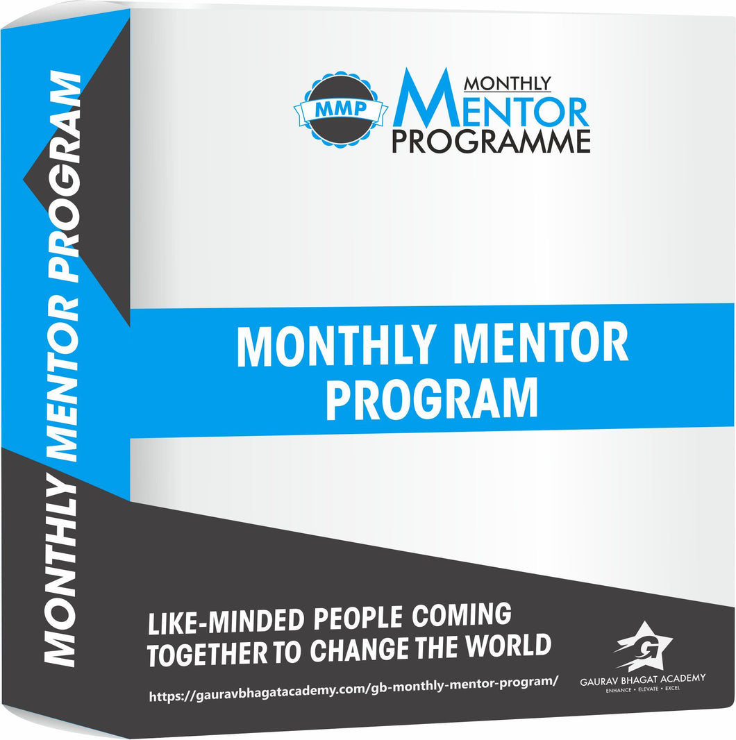 Yearly Mentor Program Online Course - Gaurav Bhagat Academy