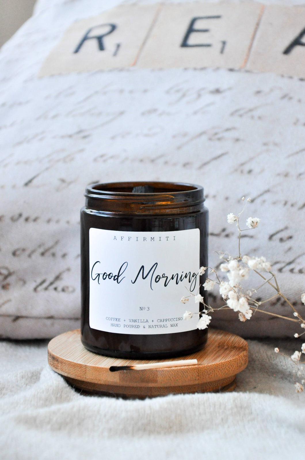Good Morning Premium Wood Wick Candle