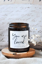 Load image into Gallery viewer, You Are Loved Premium Wood Wick Candle