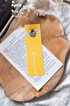 Load image into Gallery viewer, Bee Brave Yellow Laminated Bookmark
