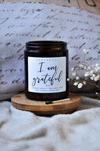 Load image into Gallery viewer, I Am Grateful Premium Wood Wick Candle