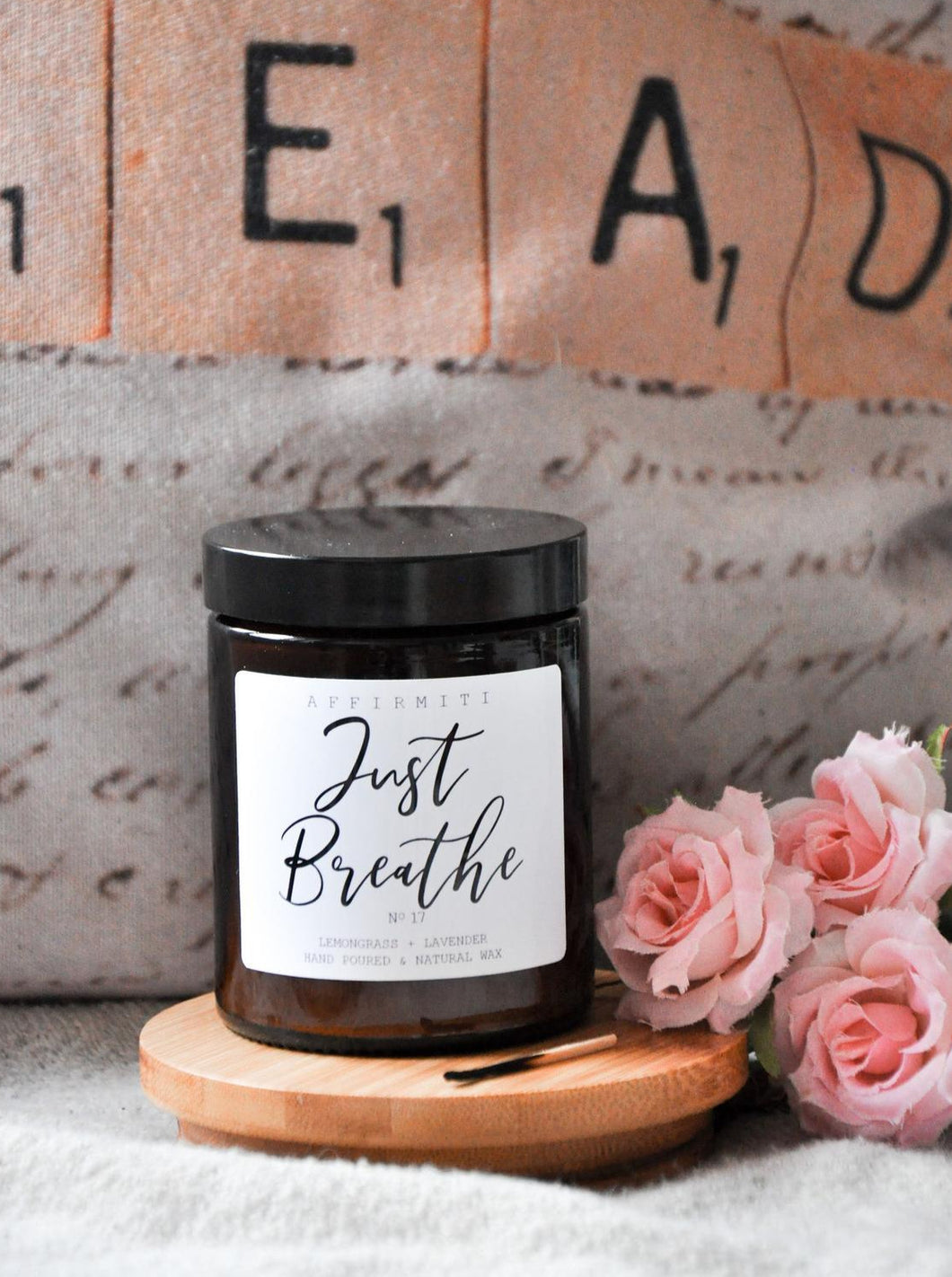 Just Breathe Premium Wood Wick Candle