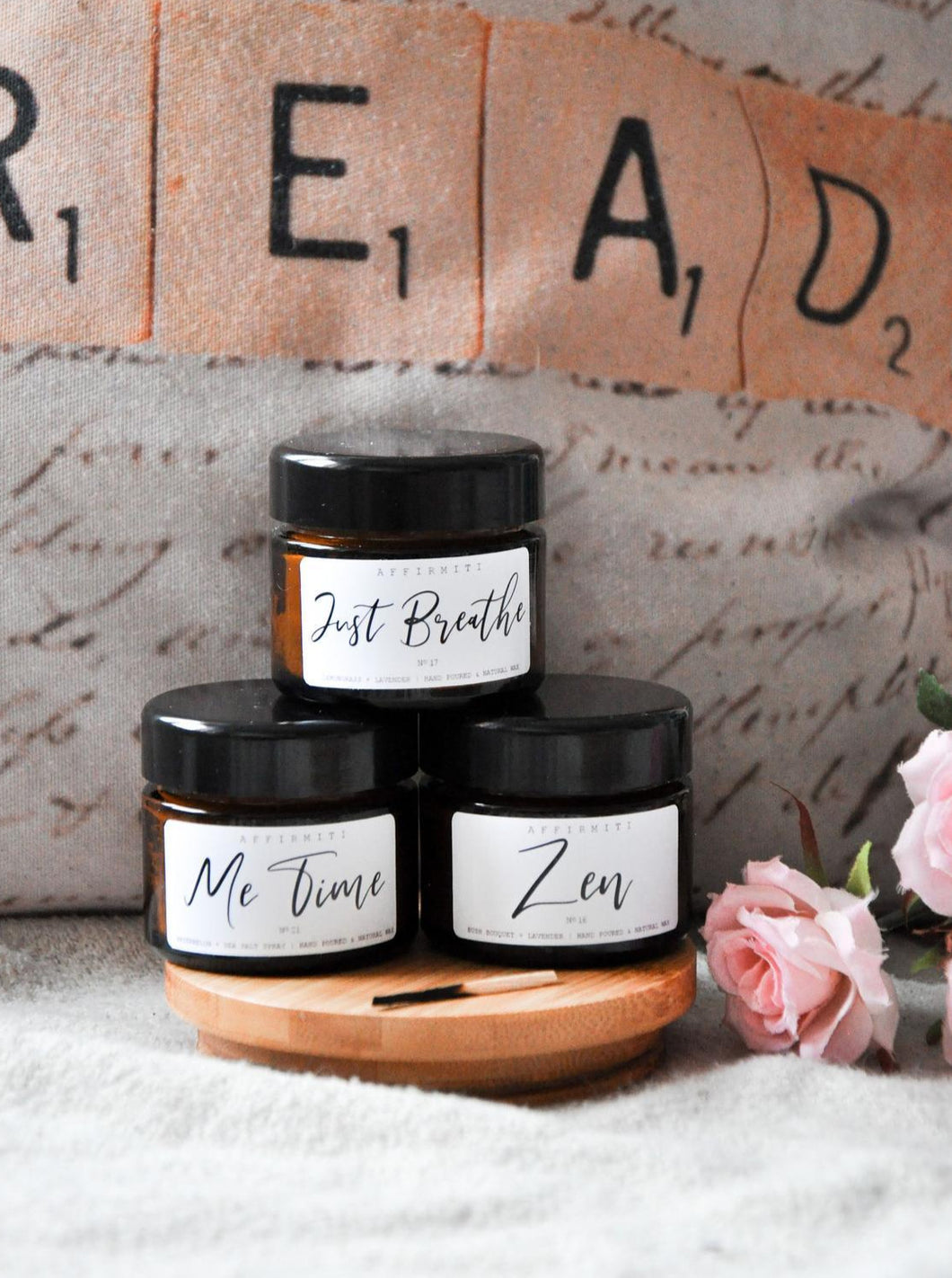Self Care Set Premium Wood Wick Candles
