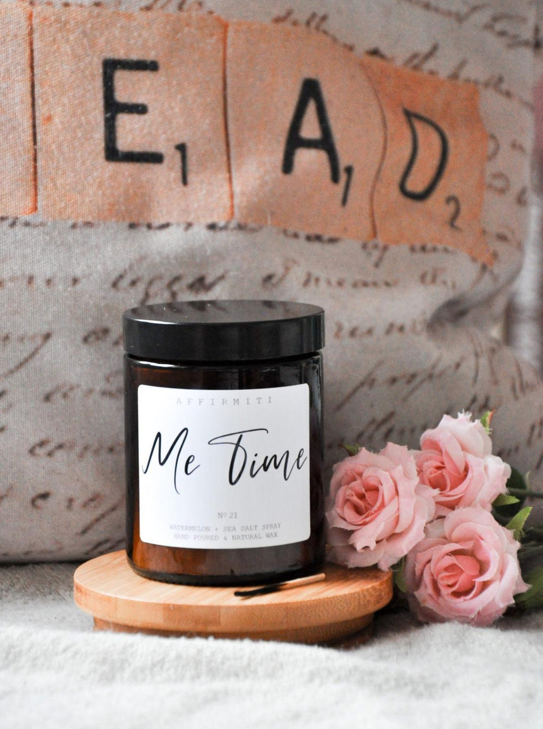 Me Time Premium Wood Wick Candle