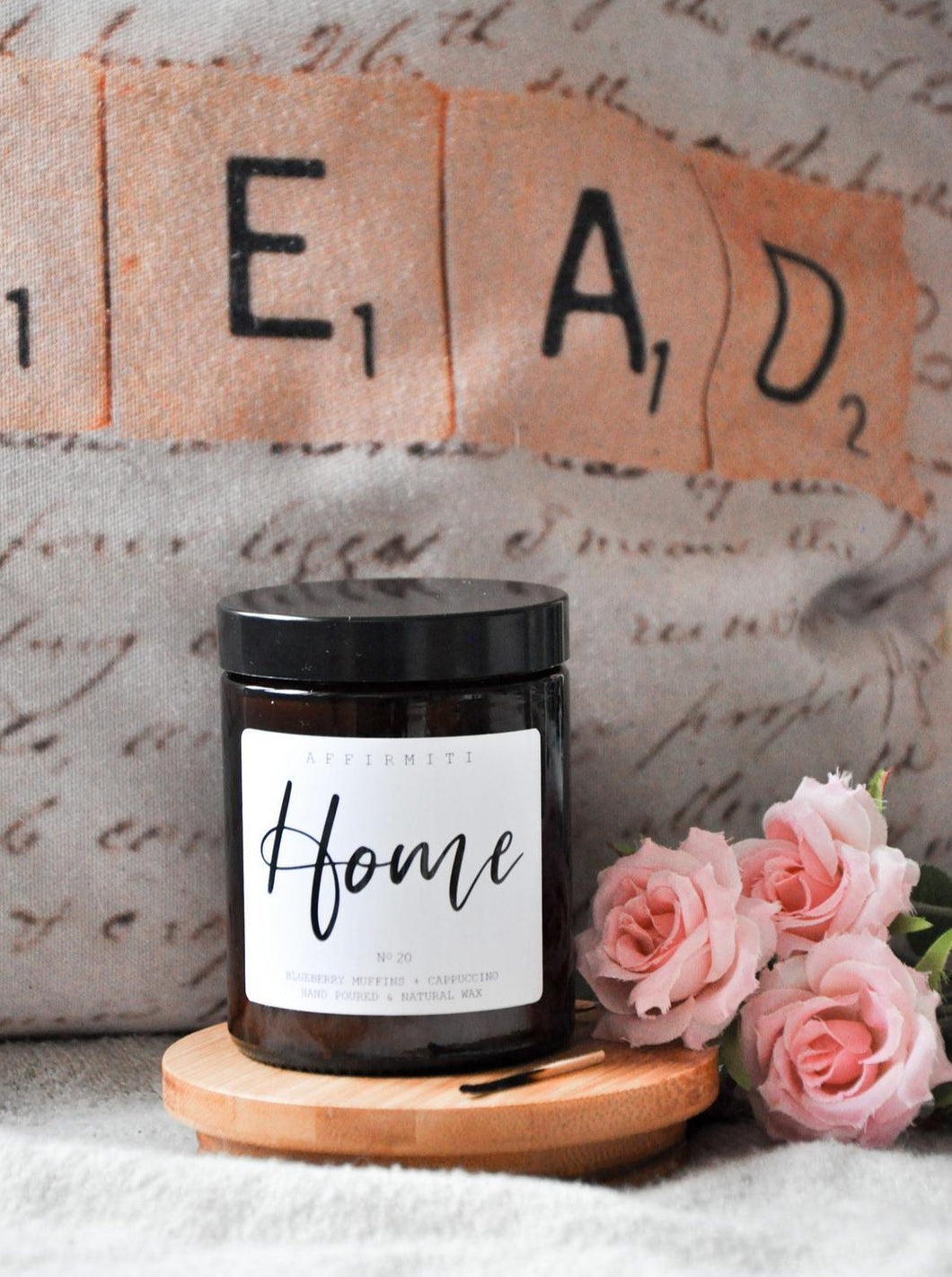 Home Premium Wood Wick Candle