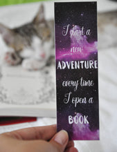 Load image into Gallery viewer, I Start A New Adventure Every Time I Open A Book Laminated Bookmark