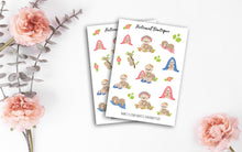 Load image into Gallery viewer, Cute Sloth Family Sticker Sheet