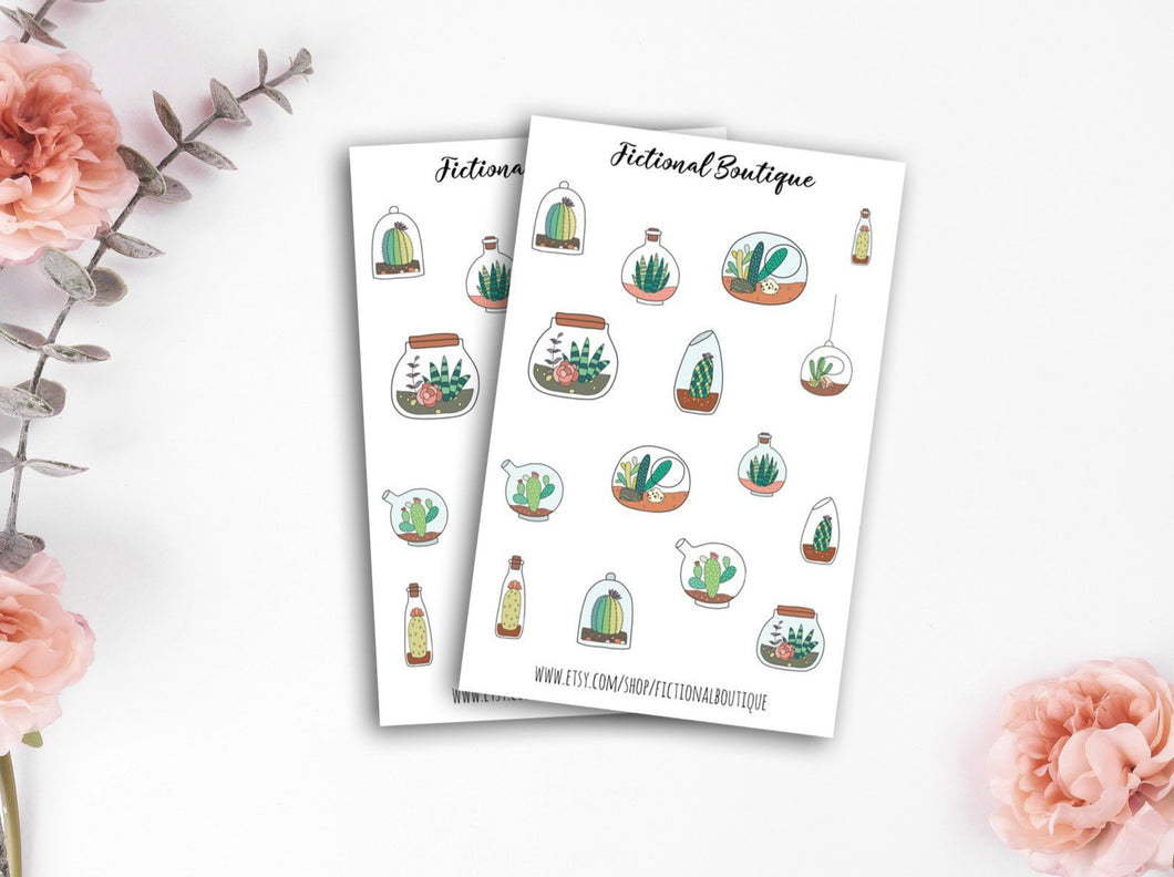 Succulent In Jars Sticker Sheet