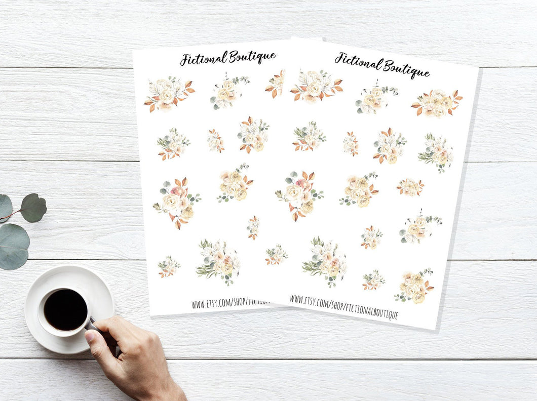 Cute Flower Sticker Sheet