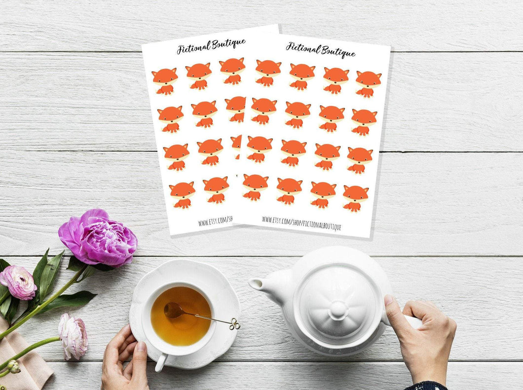 Cute Fox Sticker Sheet