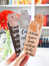 Load image into Gallery viewer, Cat Lover Laminated Bookmark