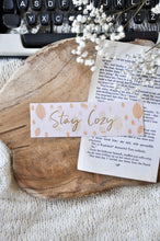Load image into Gallery viewer, Stay Cozy Autumn Laminated Bookmark