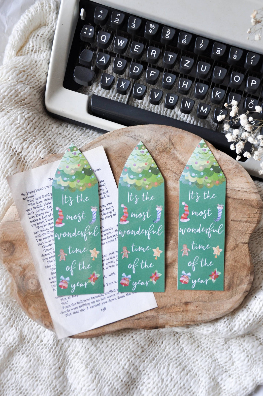 It's The Most Wonderful Time Of The Year Laminated Bookmark
