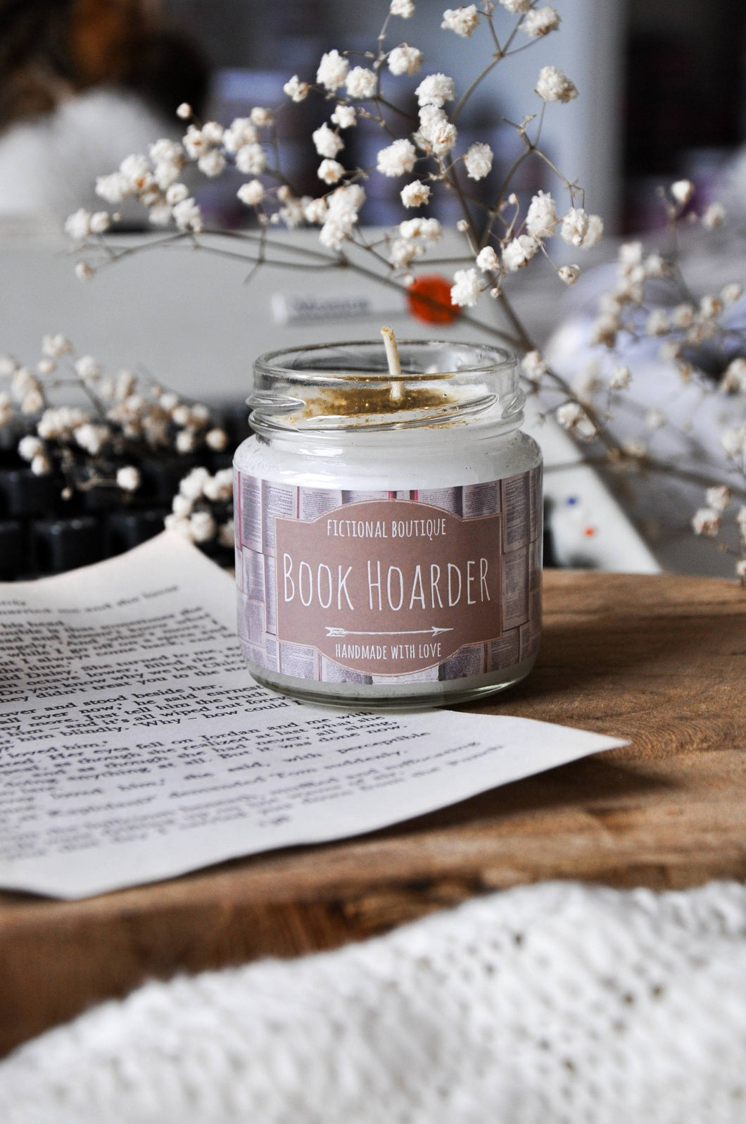 Book Hoarder Bookish Candle