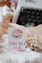 Load image into Gallery viewer, I Love You A Sloth Sticker