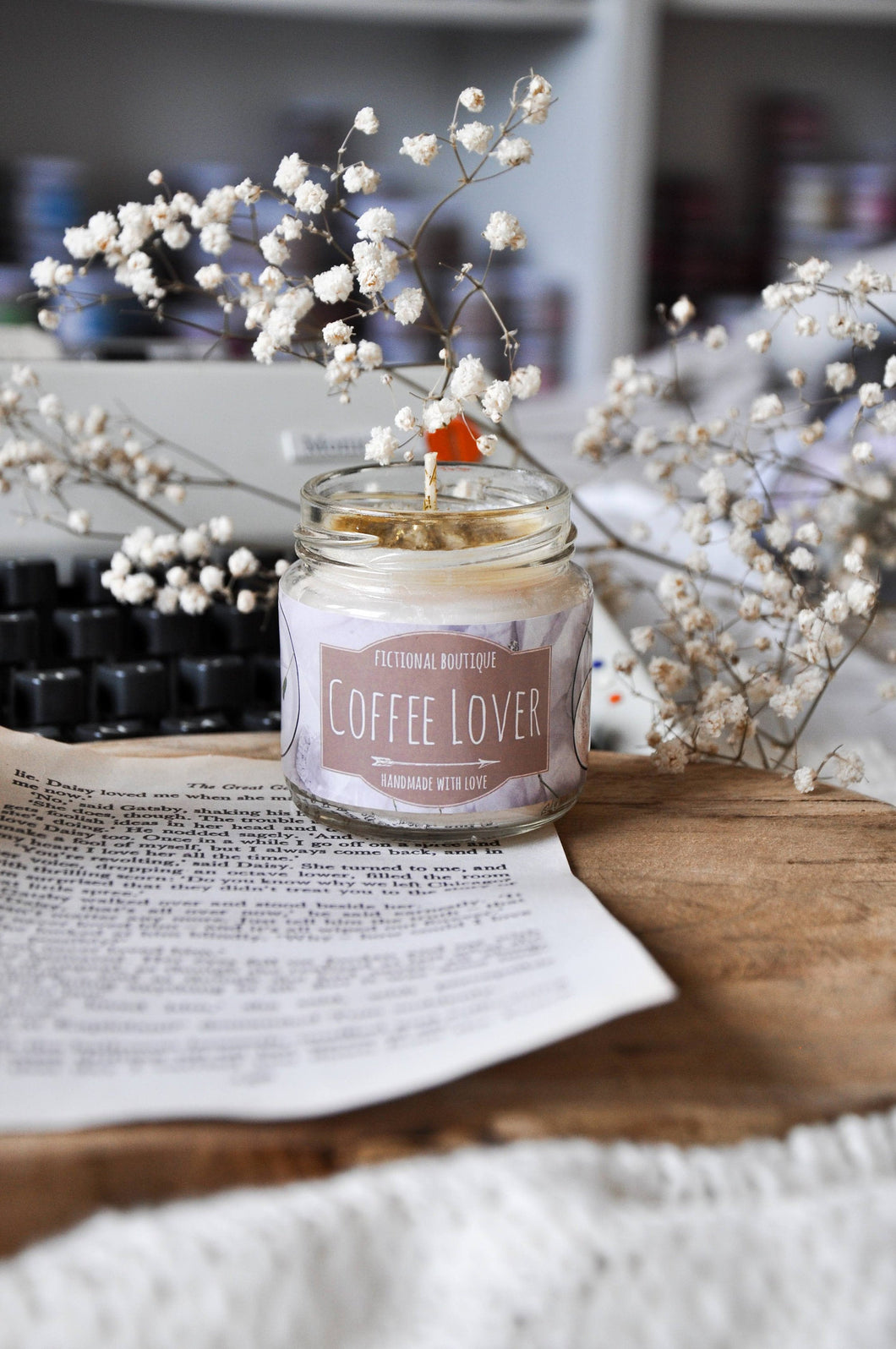 Coffee Lover Bookish Candle