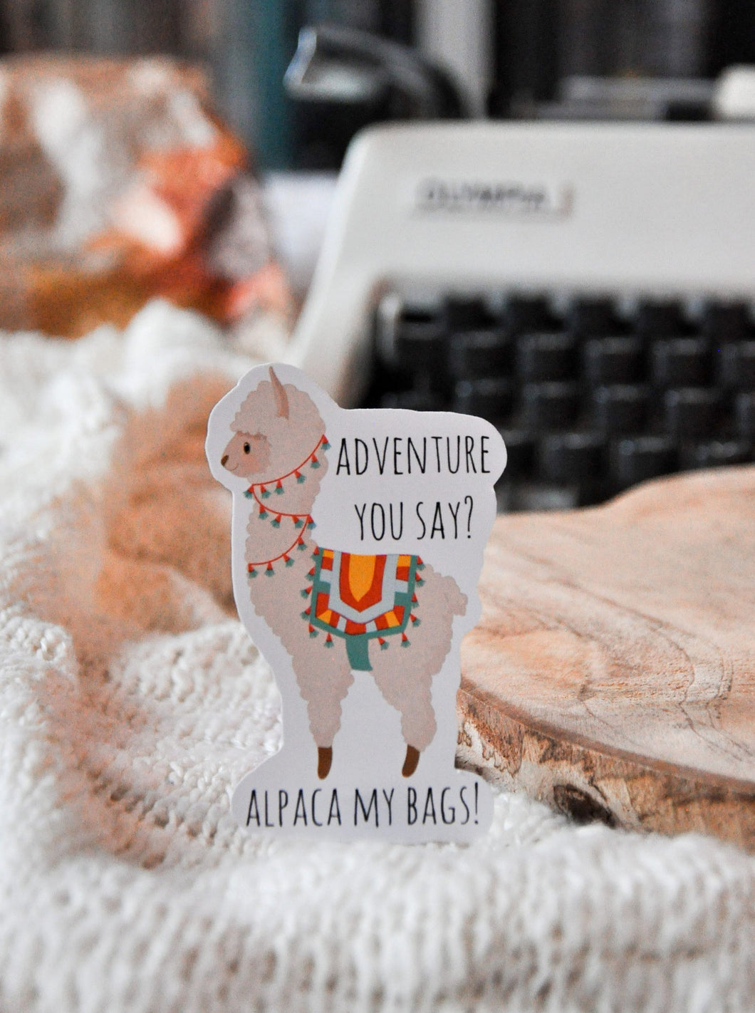 Adventure Alpaca Sticker