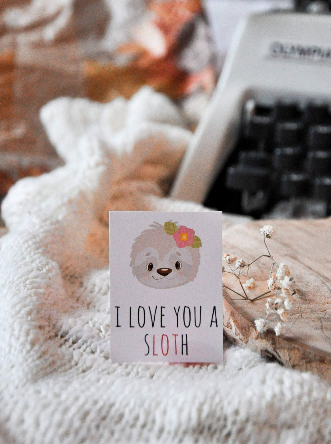 I Love You A Sloth Sticker