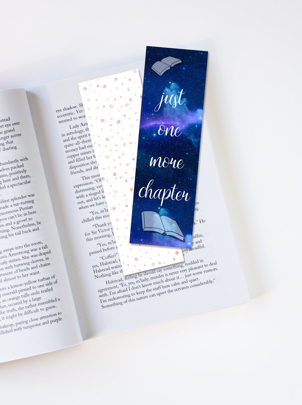 Just One More Chapter Laminated Bookmark
