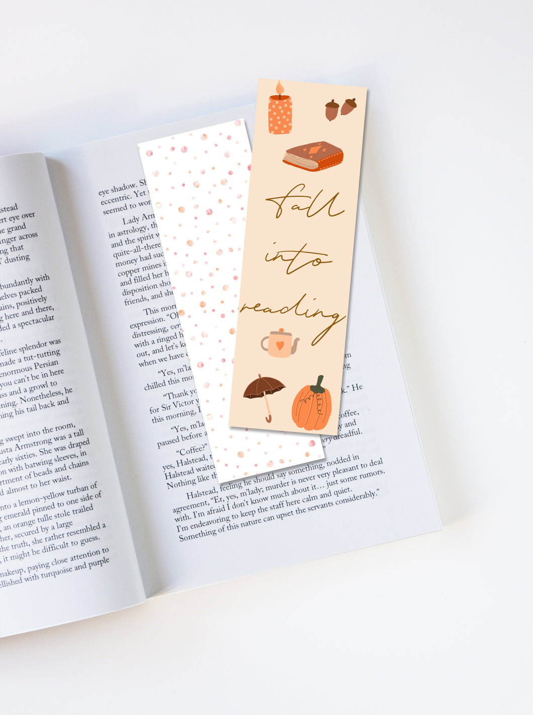 Fall Into Reading Autumn Bookmark