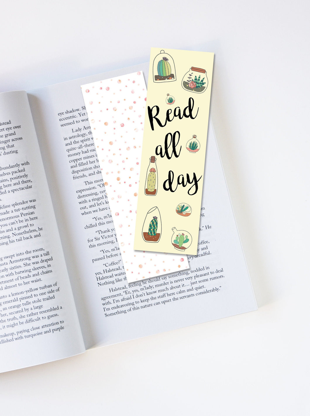 Read All Day Laminated Bookmark